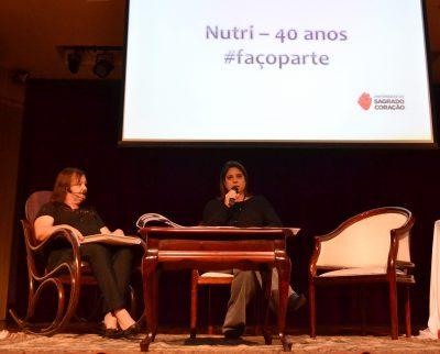 Silvana participa da comemoração aos 40 anos do curso de Nutrição da USC