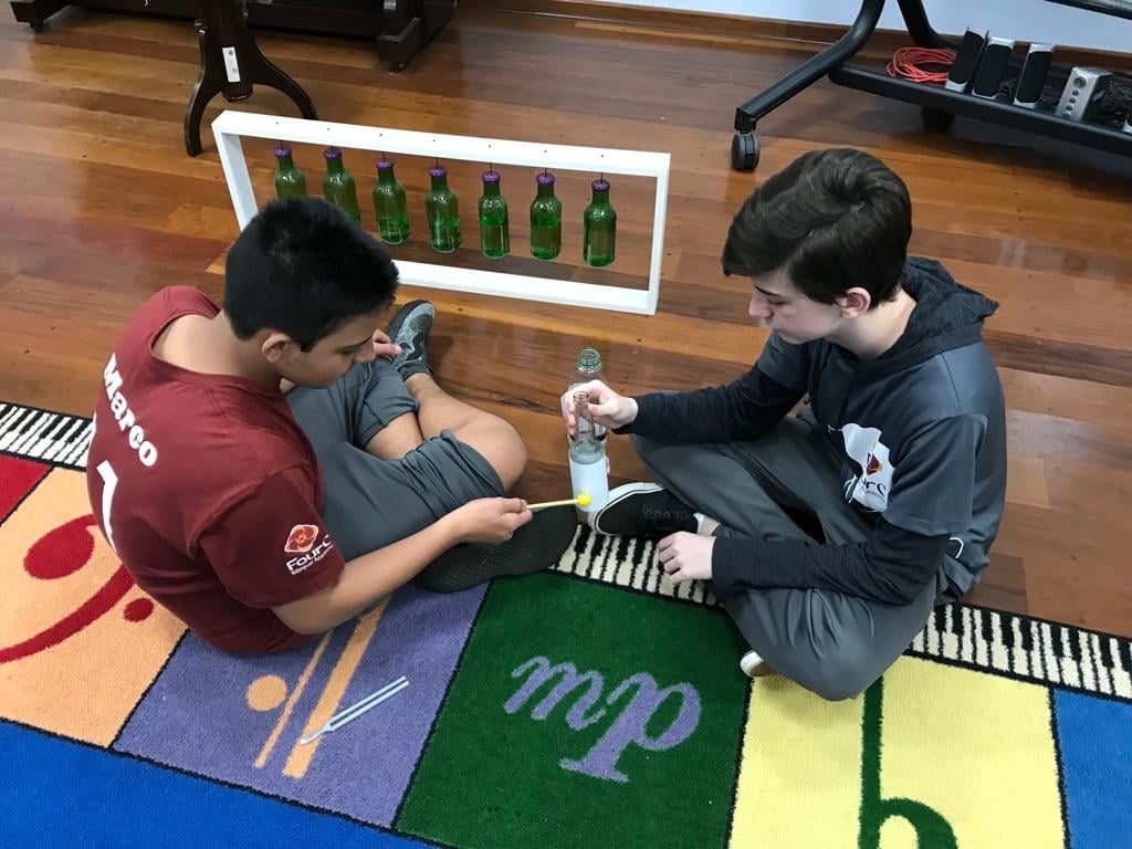 Aprendizado ao som dos xilofones!