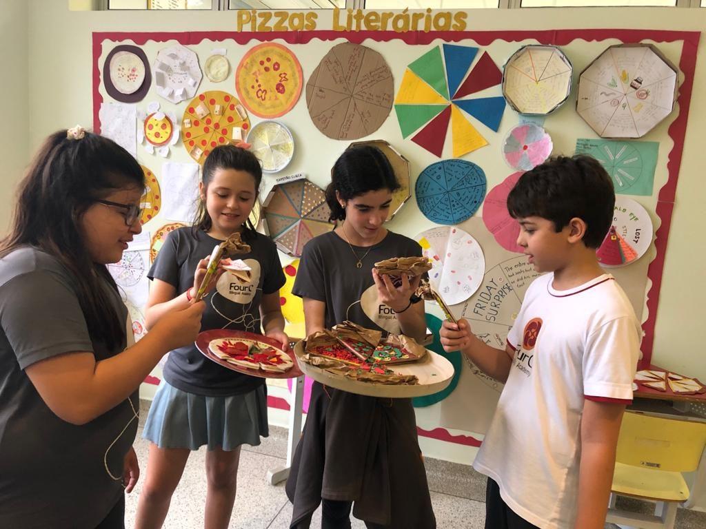 Pizza literária: o sabor da leitura