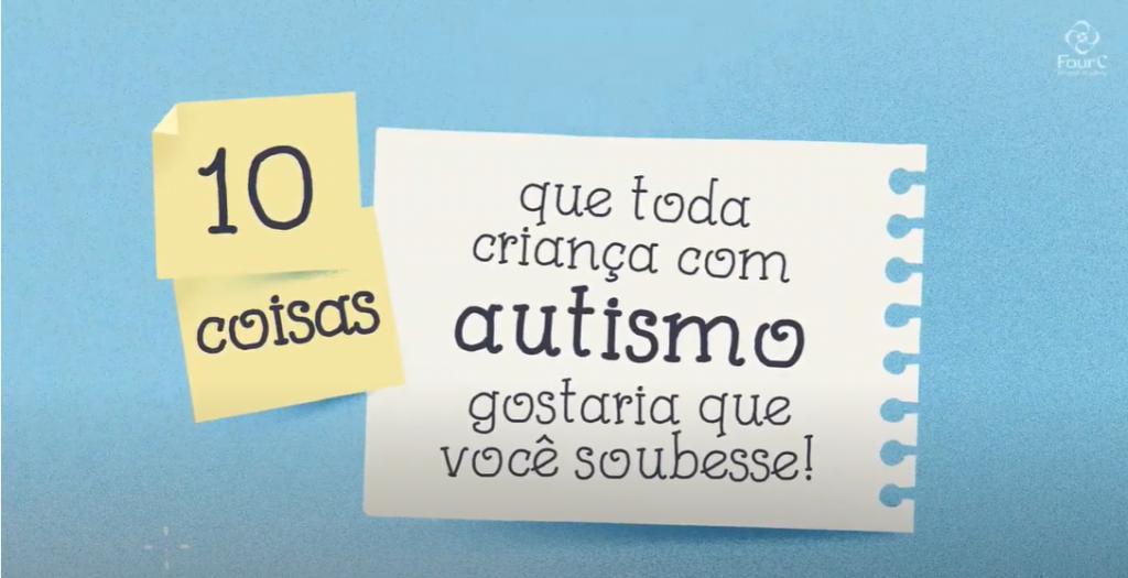 FourC e Inspirados pelo Autismo firmam parceria e oferecem vídeo com dicas sobre como apoiar crianças com autismo