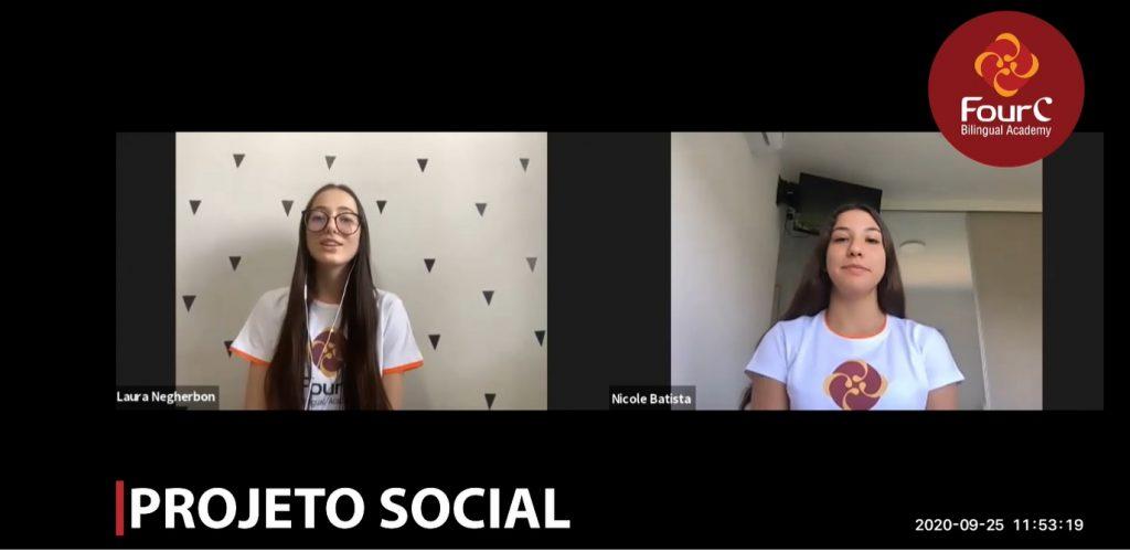 Alunos do 9º ano realizam projeto social