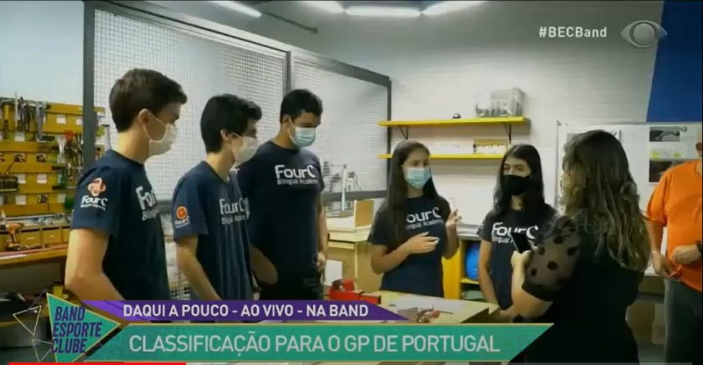 Equipe FourC da F1 in Schools é destaque no Programa Band Esporte Clube