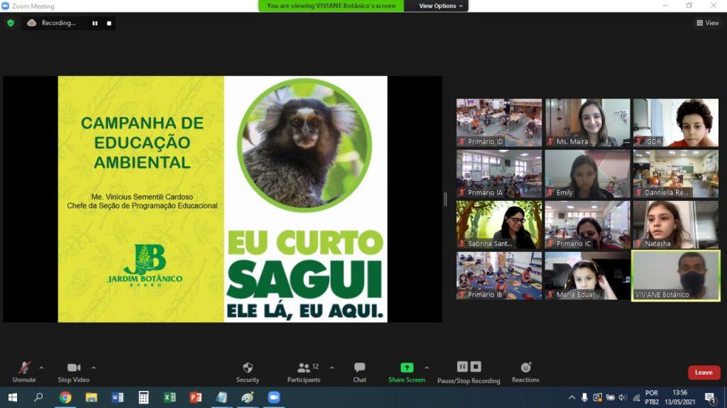 """Alunos do Fundamental I participam de campanha educativa """"Sagui na FourC"""""""